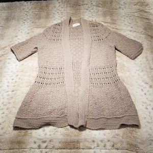 Ann Taylor Loft Long Gray Knit Cardigan Size S